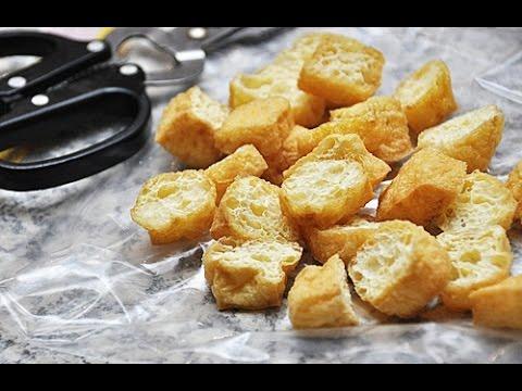 How To Make Crispy Tofu   Deep Fried Tofu Recipe 脆皮炸豆腐