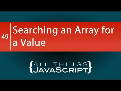 JavaScript Problem: Searching an Array for a Value