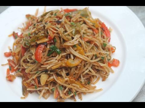 Vegetable Noodles Recipe - Veg Noodles Recipe - Indo Chinese Recipe