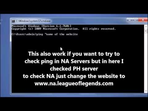 How to check ping using CMD - League of Legends