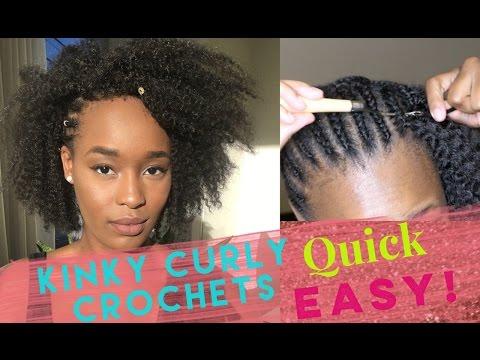 BEST CROCHET BRAID TUTORIAL  ( NATURAL LOOKING KINKY CURLY HAIR)