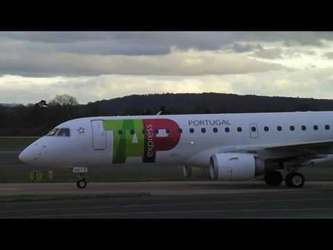 TAP Express Portugal Airlines landing at Manchester Airport