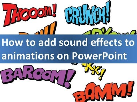 How to insert sound-effects, music or voice in PowerPoint