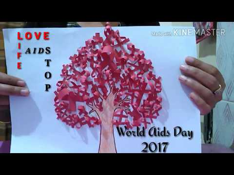Handmade world aids day posters||How to make world aids day poster||World aids day 2017