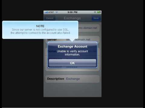 Configuring An Exchange Or Z Push Email Account On An Iphone