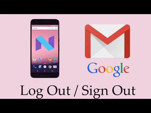 How to Log Out/Sign Out/Remove Gmail or Google Account on Android Nougat