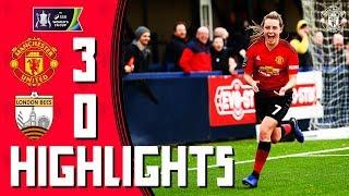 MU Women Highlights   Manchester United 3-0 London Bees   Women