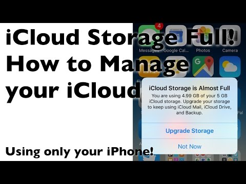 iCloud Storage is Almost Full! How to Manage your iCloud with your iPhone