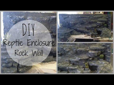 DIY reptile enclosure rock wall