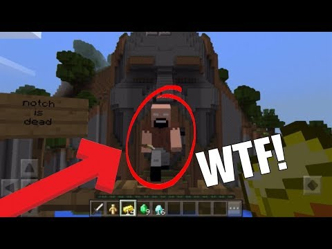 [MUST SEE!] I FOUND NOTCHBRINE IN THE TEMPLE OF NOTCH IN MINECRAFT PE!