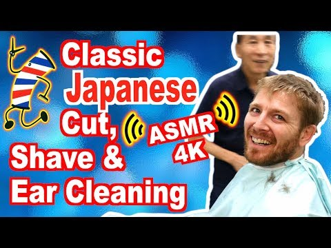 Classic Japanese ASMR Barber - Ron's First Visit