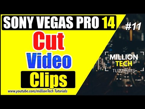 Sony Vegas Pro 14 - How to Cut/Split a Video Clip Events - Tutorial #11