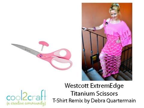 How to Make a Cut T-Shirt Dress Design featuring Westcott ExtremEdge Scissors