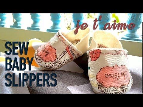 DIY Sewing BABY SLIPPERS (EASY)