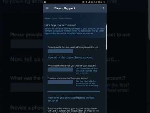 How to change email from steam app