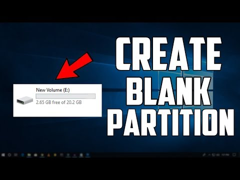 How to Create New Blank Partition In Windows 10