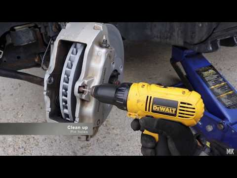 Porsche Cayenne. How to replace front brake pads and rotors :DIY
