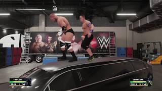 WWE 2K18 John Cena Vs Triple H | WWE 2K18 New Backstage Brawl | WWE 2K18 PlayStation 4 Pro