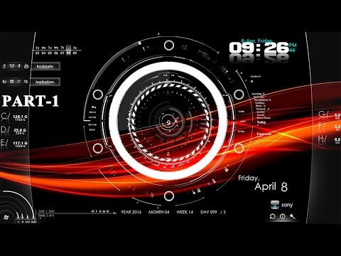 How to customize desktop/wallpaper/screen in Windows 7/8/10 with Rainmeter | Make 3D screen Part.1