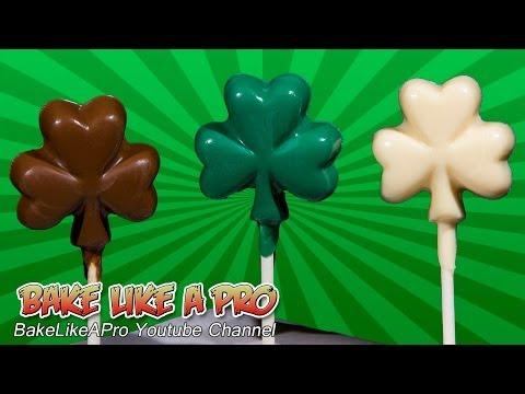 Chocolate Shamrock Lollipops Recipe