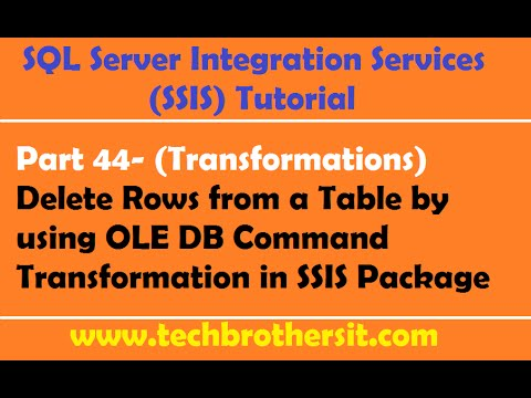 SSIS Tutorial Part 44- Delete Rows from a Table by using OLE DB Command Transformation