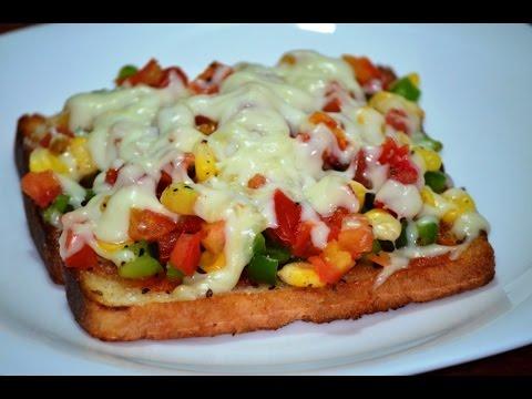 How to make Bread Pizza | Bread Pizza on Tawa | Bread Pizza Recipe