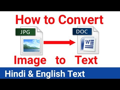 How to Convert Image to Editable Text For Free [Hindi]