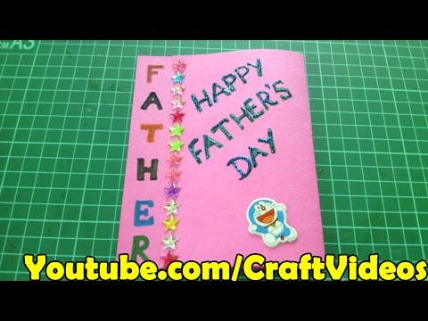 Father's day easy card ideas for kids and making tutorial | Happy Fathers Day Cards