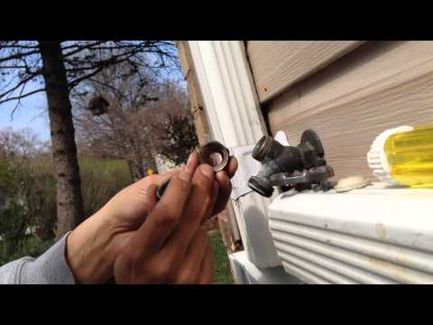 How to replace bonnet packing and rubber valve seat washer on leaky outdoor spigot