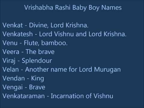 Vrishabha Rashi Baby Boy Names