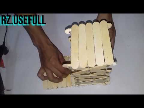 How to Make Amazing Powered LIFTING JACK from Popsicle Sticks  DIY