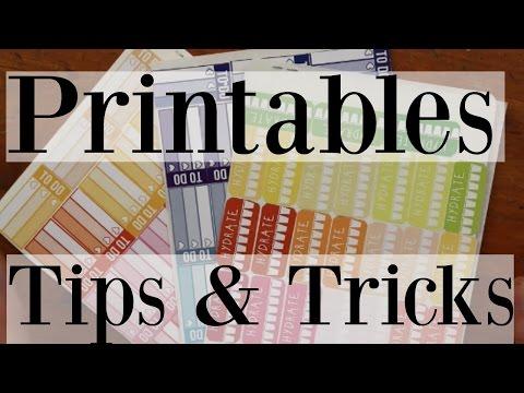 Printable Planner Stickers: TIPS, TRICKS & STORAGE