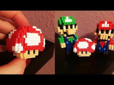 3D mini Perler Bead Mushroom!