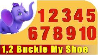Kids Nursery Rhymes | 1 2 Buckle My Shoe