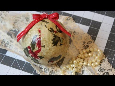 Easy Scrap Fabric Christmas Balls   Tutorial