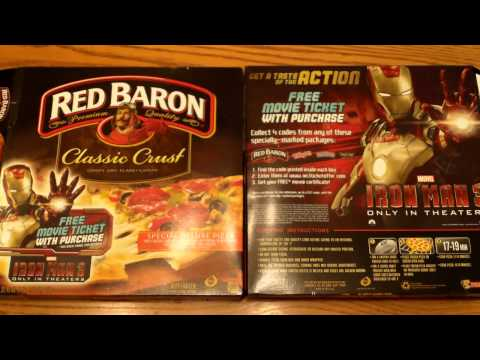 See Iron Man 3 for Free with Red Baron Pizza Promotion - Smart Money Guides
