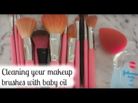 How To: Clean Makeup Brushes with Baby Oil