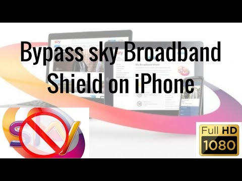 (iPhone or iPad) How to bypass/remove sky broadband shield on iPhone