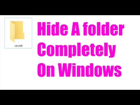 How to hide a Folder completely by CMD in windows 10