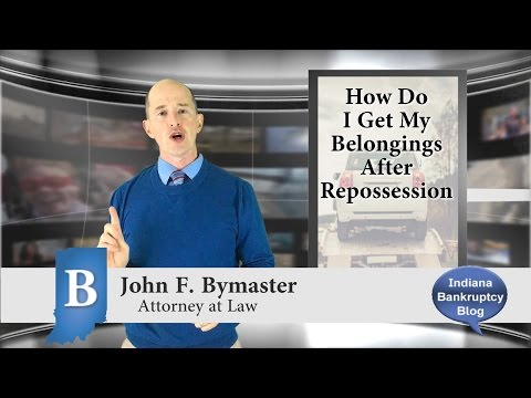 How Can I Get My Belongings Back After Repossession?