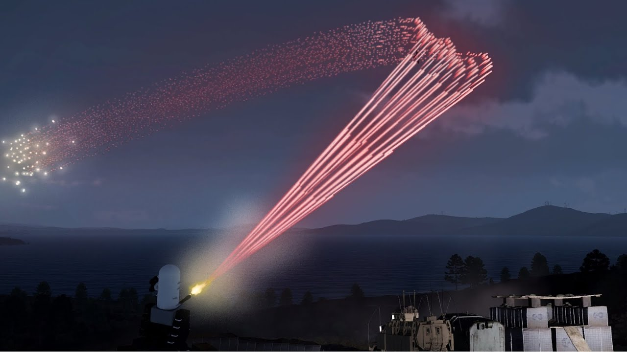 ArmA 3 - A-10 Warthog/Thunderbolt II in Action vs C-RAM - Phalanx CIWS - C RAM - Tracer - Simulation