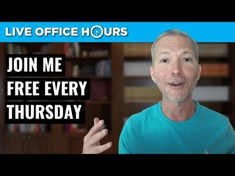 Join me for FREE LIVE OFFICE HOURS on Thursdays!
