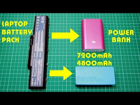 Make old laptop battery pack into Power Banks