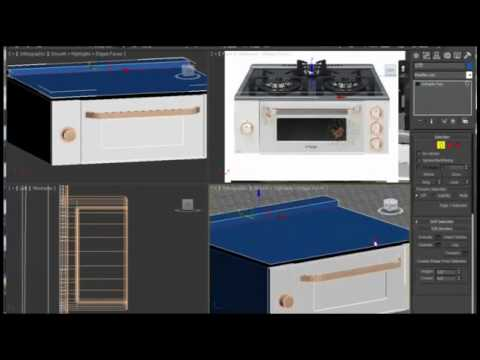 3ds max Tutorial:gas stove Modeling 0539 290 13 13 | bitirme tezi