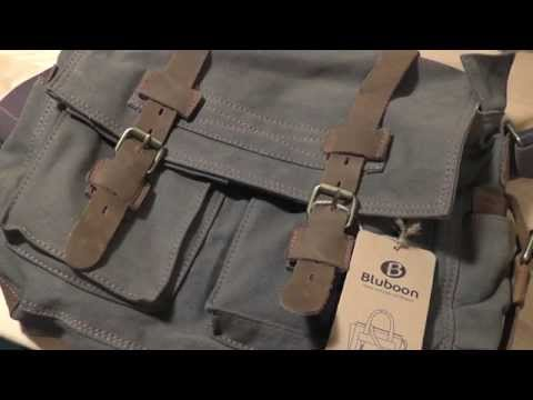 REVIEW: Bluboon Messenger Laptop Bag (Canvas/Leather)