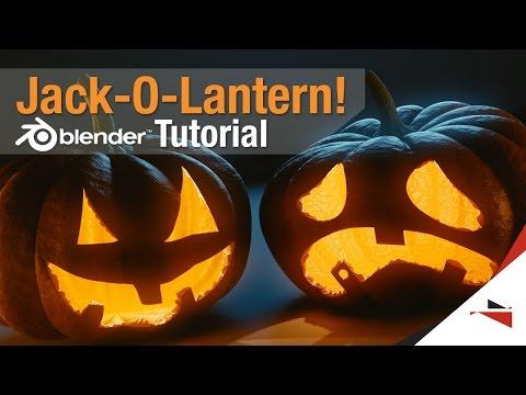 How to make a Jack-o-lantern!! - Blender Tutorial