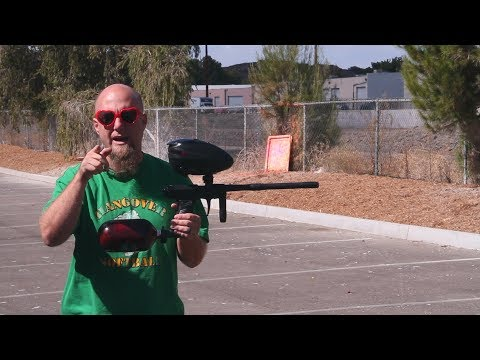 Field One/Bob Long Insight Reflex w/  Phase Body Paintball Gun - Shooting
