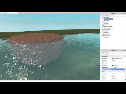ROBLOX Smooth Terrain Water: Color & Transparency