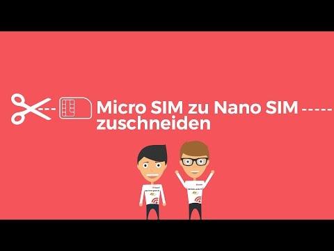 Micro Sim zu Nano Sim Karte zuschneiden mit Schablone | SIM-Karte-gratis.de