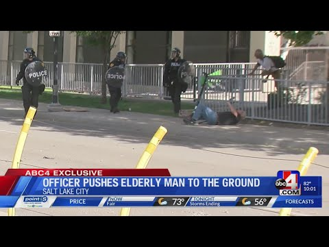 SLCPD Officer Pushes Elderly Man to the Ground